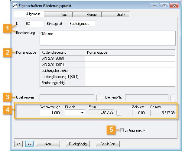 ORCA Helpdesk - ORCA AVA - Eigenschaften: Gliederungspunkt/Allgemein ...